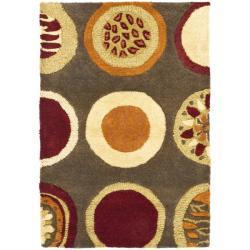 Safavieh Handmade Soho Brown/Multicolor Contemporary New Zealand Wool Rug (2' x 3')