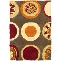 Safavieh Handmade Soho Brown/Multicolor Contemporary New Zealand Wool Rug - 2' X 3'