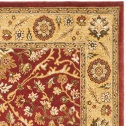 Safavieh Handmade Majesty Red/ Gold New Zealand Wool Rug (4' x 5'6) - Thumbnail 1