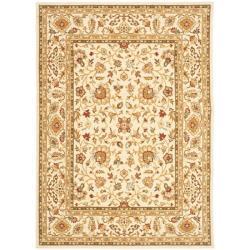 Safavieh Handmade Majesty Ivory/ Ivory New Zealand Wool Rug (4' x 5'6)