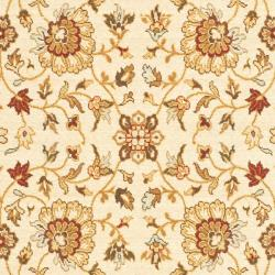 Safavieh Handmade Majesty Ivory/ Ivory New Zealand Wool Rug (5'3 x 7'6)
