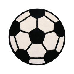 Sports Ball-themed Multi Cotton Rug (3' Round)