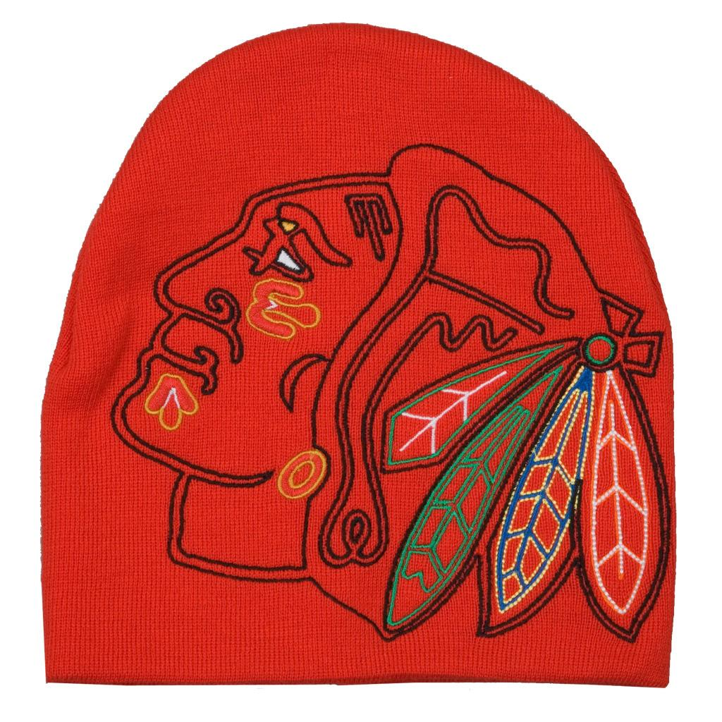 G3 Chicago Blackhawks 100-percent Acrylic Big Logo Stocking Hat - Thumbnail 0