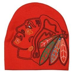 G3 Chicago Blackhawks 100-percent Acrylic Big Logo Stocking Hat - Thumbnail 1