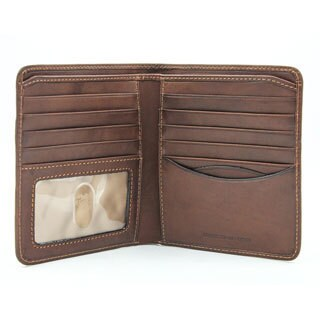 Tony Perotti Men's Prima Hipster Italian Leather I.D. Window Travel Wallet