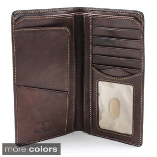 Tony Perotti Prima Italian Leather Checkbook Wallet with ID Window