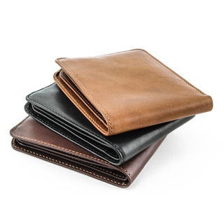 Tony Perotti Men's Italian Cow Leather Classic Slim Bifold Wallet