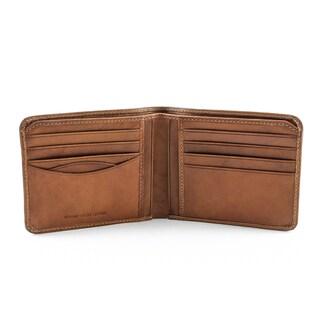 Tony Perotti Men's Italian Cow Leather Classic Slim Bifold Wallet