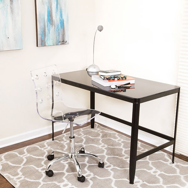 LumiSource Modern Clear Acrylic Office Chair & Shop LumiSource Modern Clear Acrylic Office Chair - On Sale - Free ...