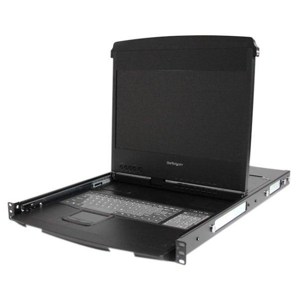 """StarTech.com 1U 17"""" HD 1080p Dual Rail Rackmount Widescreen LCD Conso"""