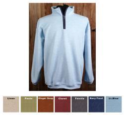 Green Brand Unisex Eco-friendly Banded Bottom 1/4-zip Fairway Fleece