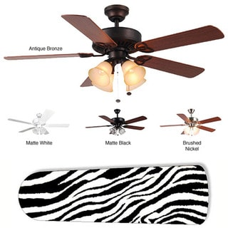 New Image Concepts 4-light Ceiling Fan with Zebra Blades