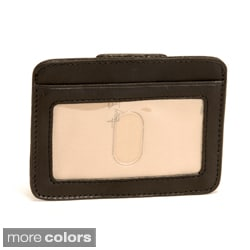 Tony Perotti Men's Italian Cow Leather Slim Magnetic Money Clip Wallet with ID Window