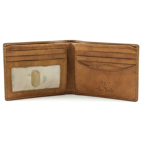 Tony Perotti Men's Italian Cow Leather Classic Bifold Wallet with ID Window