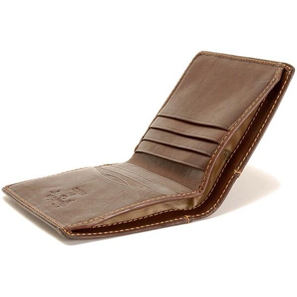 Tony Perotti Handmade Green Prima Americano Front Pocket Italian Leather Credit Card Wallet
