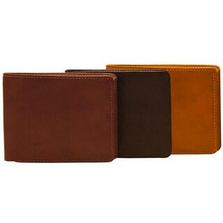 Tony Perotti Men's Italian Cow Leather Classic Bifold Multi Credit Card Wallet
