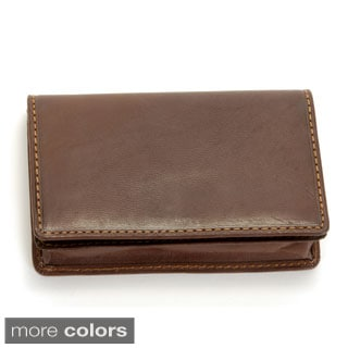 Tony Perotti Handmade Green Italian Leather Business Card Wallet with Snap Closure