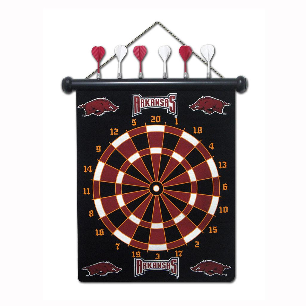 Arkansas Razorbacks Magnetic Dart Board