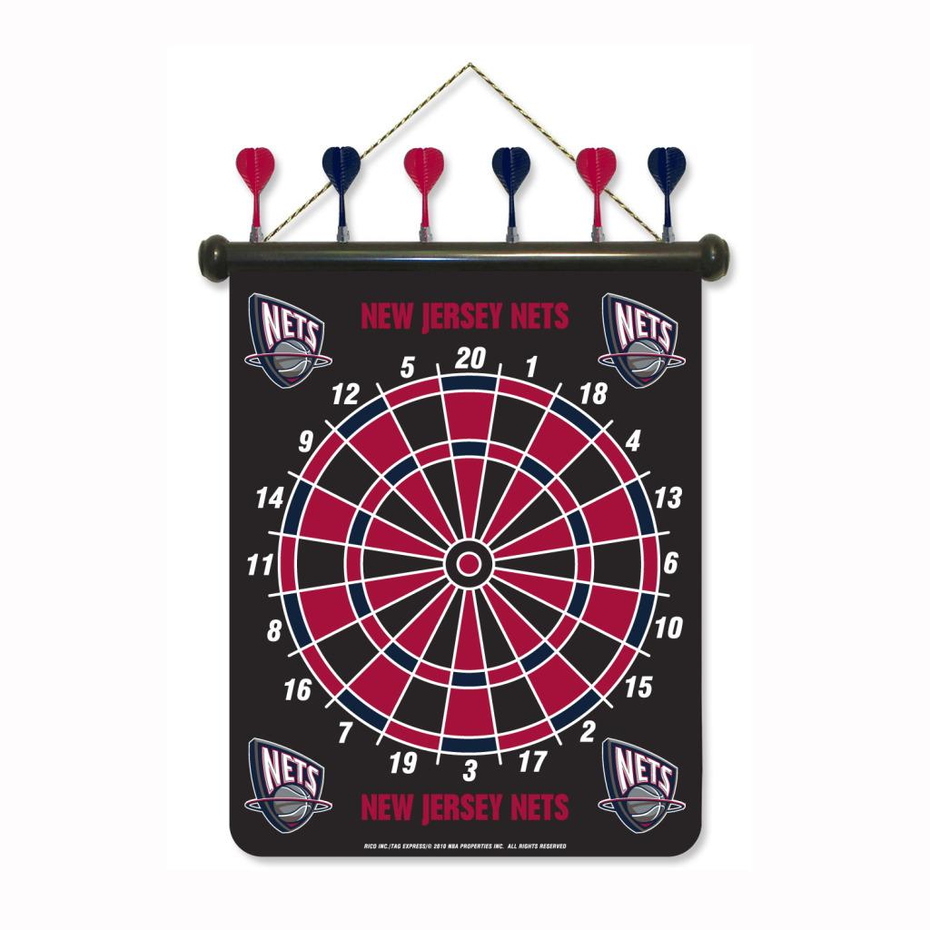 New Jersey Nets Magnetic Dart Board