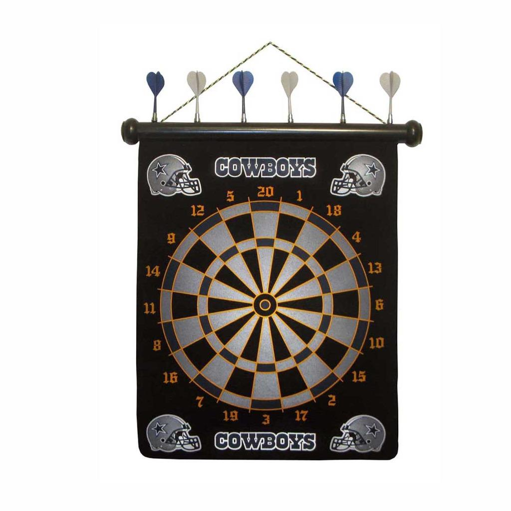 Officially Licensed Dallas Cowboys Magnetic Dartboard with Six Darts - Thumbnail 0