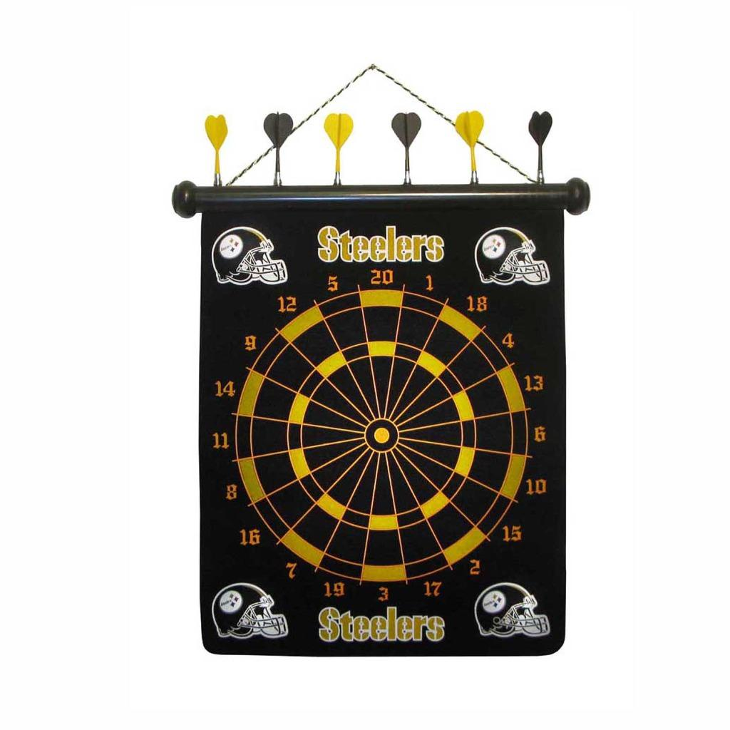 Officially Licensed Pittsburgh Steelers Magnetic 12-inch Dart Board - Thumbnail 0