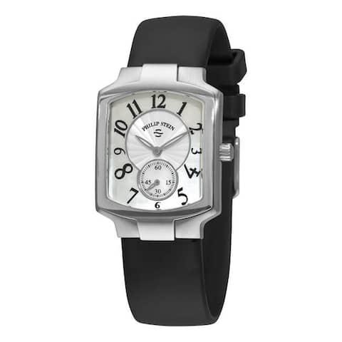 Philip Stein Women's Signature Classic Black Rubber Strap Watch