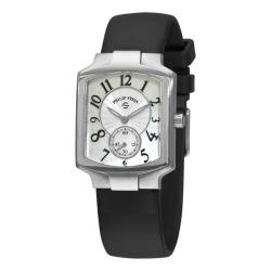 Philip Stein Women's Signature Classic Black Rubber Strap Watch