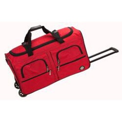 Rockland Unisex 30-inch Lightweight Roomy Rolling Upright Duffel Bag - Thumbnail 2