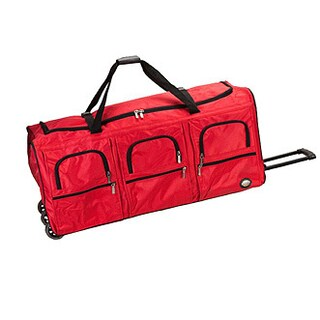Rockland 40-inch Lightweight Rolling Upright Duffel Bag (Option: Red)