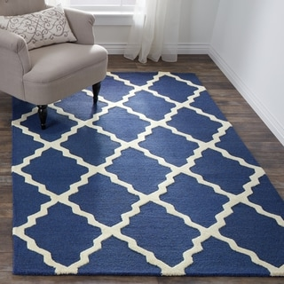 Handmade Moroccan Trellis Wool Area Rug (5' x 8')