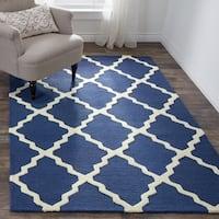 nuLoom Handmade Moroccan Trellis Wool Area Rug (5' x 8') - 5' x 8'
