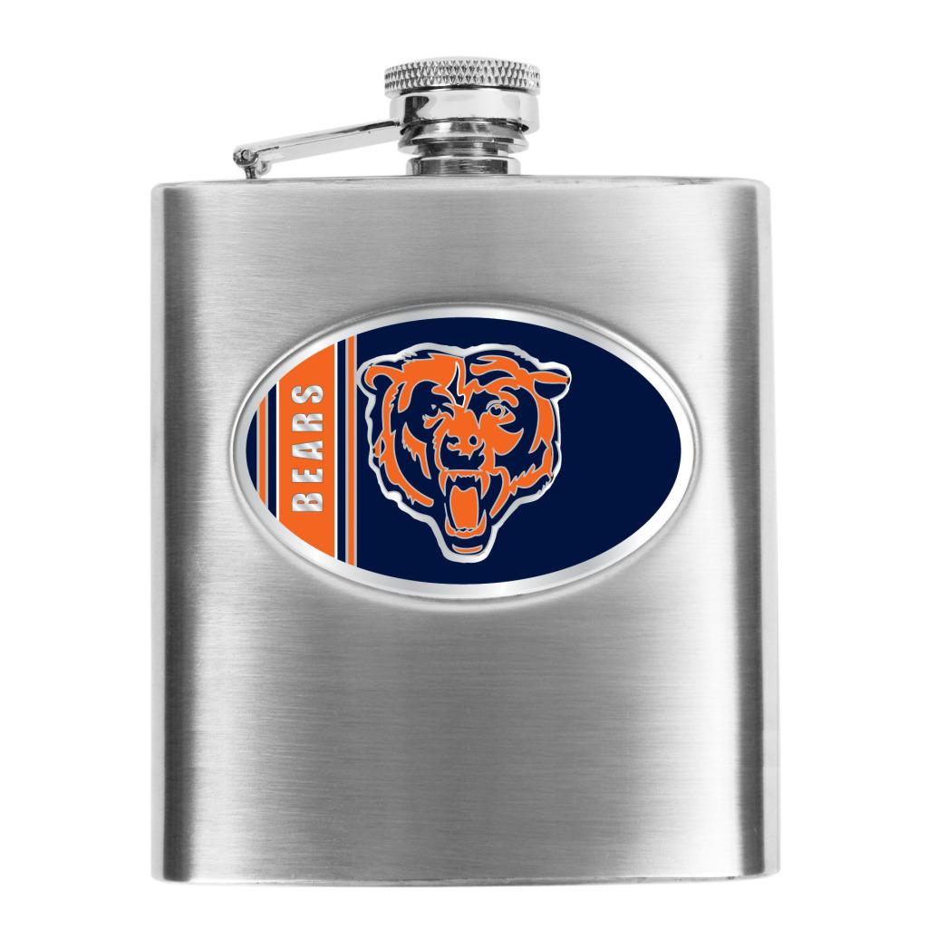 Simran Chicago Bears 8-oz Stainless Steel Hip Flask