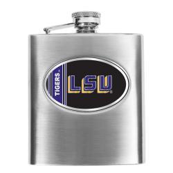 Simran LSU Tigers 8-oz Stainless Steel Hip Flask - Thumbnail 1