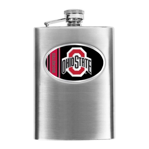 Simran Ohio State Buckeyes 8-oz Stainless Steel Hip Flask