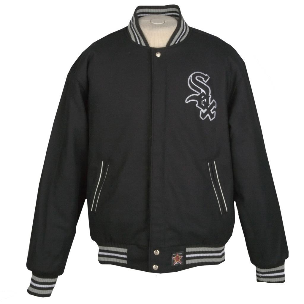 JH Designs Chicago White Sox Reversible Wool Jacket