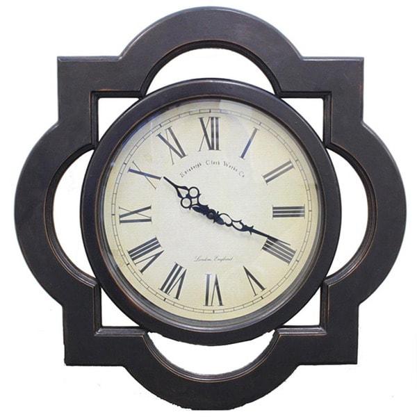 antique wood wall clock