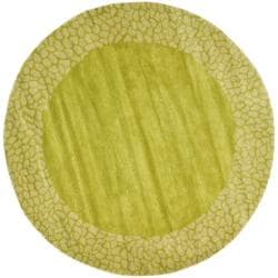 Safavieh Handmade Soho Green New Zealand Wool Rug (6' Round)