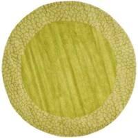 Safavieh Handmade Soho Green New Zealand Wool Rug - 6' x 6' Round