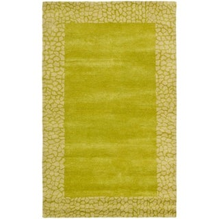 Safavieh Handmade Soho Boyanka Border N.Z. Wool Rug (5 x 8 - Green/Light Green)