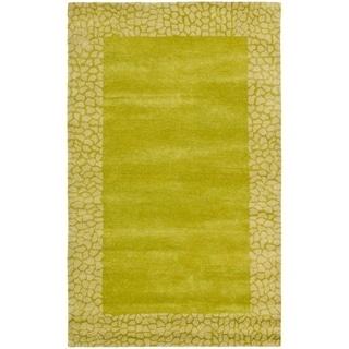 Safavieh Handmade Soho Boyanka Border N.Z. Wool Rug (76 x 96 - Green/Light Green)