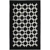 Safavieh Handmade Soho Black New Zealand Wool Rug - 3'6 x 5'6'