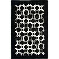 "Safavieh Handmade Soho Black New Zealand Wool Rug - 3'6"" x 5'6"""