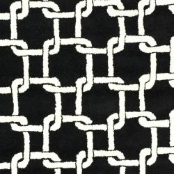 Safavieh Handmade Soho Black New Zealand Wool Rug (5' x 8') - Thumbnail 2