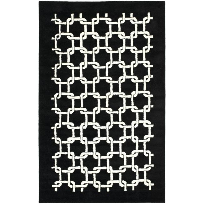 Safavieh Handmade Soho Black New Zealand Wool Rug - 7'6 x 9'6
