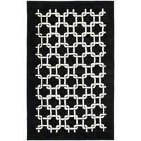 Safavieh Handmade Soho Black New Zealand Wool Rug (7'6 x 9'6) - 7'6 x 9'6