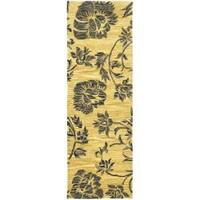 Safavieh Handmade Soho Gold New Zealand Wool Runner - 2'6 x 8'