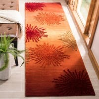 "Safavieh Handmade Soho Burst Rust New Zealand Wool Runner - 2'-6"" x 8'"