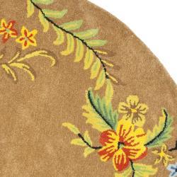 Safavieh Handmade Soho Brown New Zealand Wool Area Rug (6' Round) - Thumbnail 1