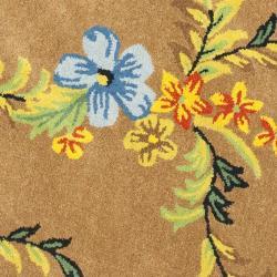 Safavieh Handmade Soho Brown New Zealand Wool Area Rug (6' Round) - Thumbnail 2