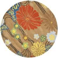 Safavieh Handmade Soho Brown New Zealand Wool Rug - 6' x 6' Round